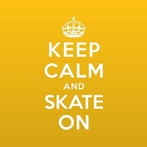 Apple iPhone 7 Bumper Hülle Bumper Case Glitzer Hülle Keep Calm Skateboard Skaten Bumper Case transparent pink