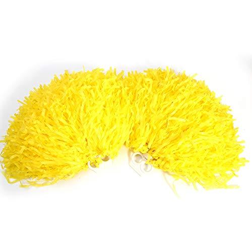 Tbest Cheerleading Pompons Poms, 4 Stück Cheerleader Pom Poms Pompoms Blume Ring Pom Poms Modische Cheer Kostüm Zubehör für Party Dance Sports(Gelb)