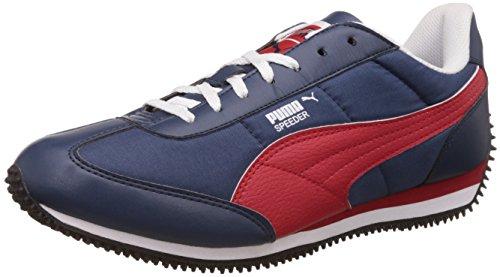 Puma Men's Insignia Blue, High Risk Red and White Sneakers - 9 UK/India (43 EU)
