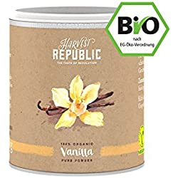 HARVEST REPUBLIC Bio-Vanillepulver, 25 g, Für Superfood Smoothies und Shakes, Organic Food, Vegan