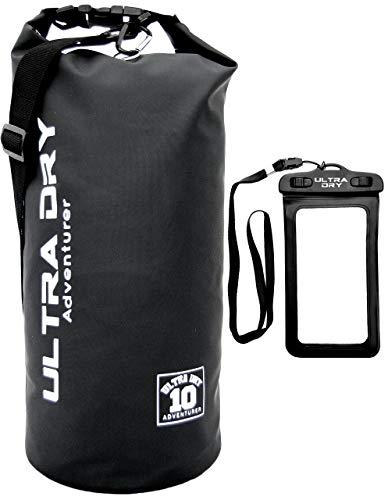 Dry Bag, wasserdichte Tasche, Rucksack, Sack mit Handy-Trockentasche und langem, verstellbarem Schultergurt, ideal für Kajakfahren/Bootfahren/Kanufahren/Rafting/Schwimmen/Camping -