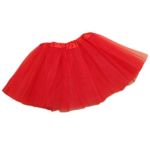 NiSeng Fasching Verkleiden Kinder Mädchen Tüllrock Tütü Tutu Petticoat Ballettkleid Tanzkleid in verschiedenen Farben #15