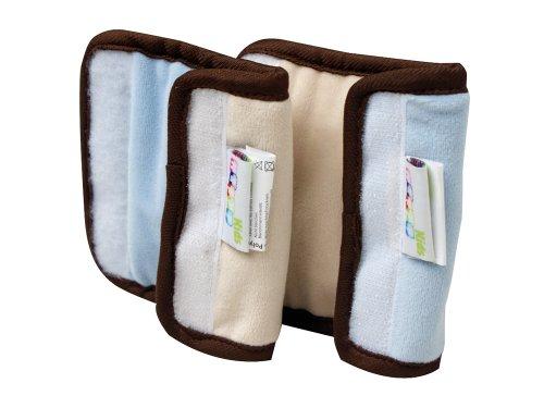 Happy Kids 28604 Gurtpolster für Kindersitz, hellblau/beige