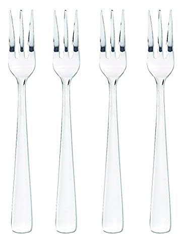 HIC Oyster Seafood Cocktail Appetizer Fork Set, Stainless Steel, 5.5-Inches, 4-Piece Set by HIC Harold Import Co.
