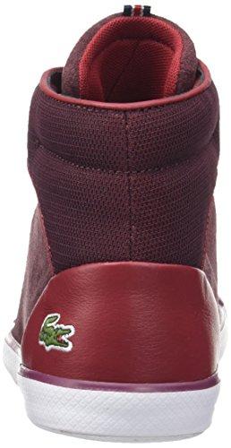 Lacoste Lancelle Hi Top, Sneaker Donna Rosso (Burg)