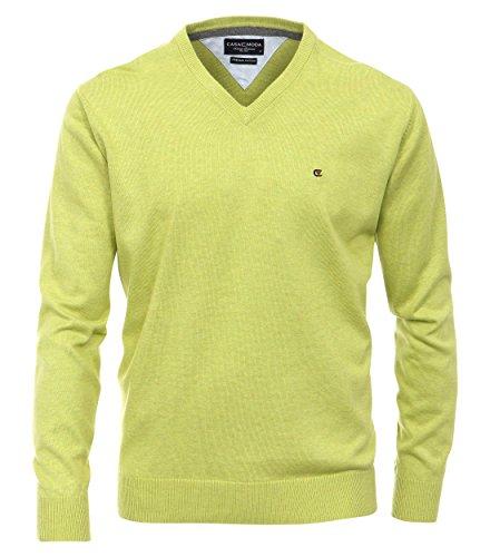 Casa Moda - Herren Pullover mit V-Ausschnitt in verschiedenen Farben (004130) Limone (342)