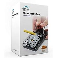 Home Solutions™ Mouse Trap 6 Pack Kill Mice Catcher, fácil de establecer Control reutilizable Snap Traps