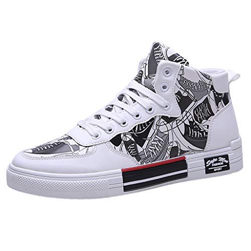 Uomo Donna Sneaker alla Moda Scarpe da Parete con Graffiti Scarpe da Geco Camo Scarpe da Ginnastica in Esecuzione Stile Lacci Sport Fashion Sportive Running Fitness Sneakers