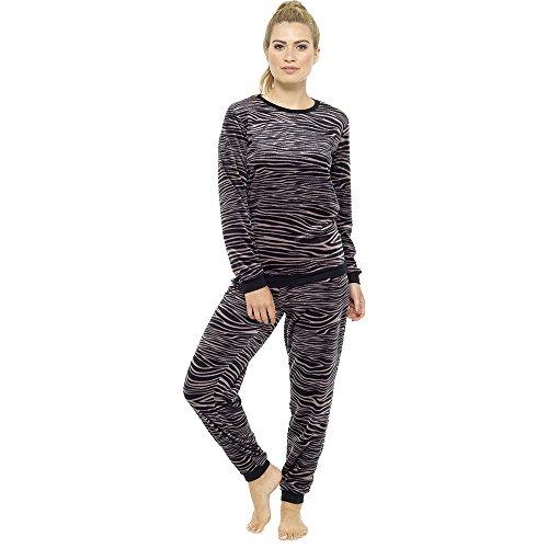 Pyjamas für Frauen Mädchen Damen PJ's bequeme warme Fleece | Pyjama Flanell Shorts oder Böden Set | perfekte Weihnachtsgeschenk für Frauen (16-18, Tiger print) (Flanell Pj Set Baumwolle)