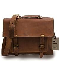 Znt Bags , 15 Inch Genuine Leather Laptop Office Messenger Bag For Men & Women NO - 1034