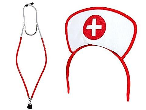 Planète Costumes Pour Halloween - Set de 2 Accessoires pour déguisement d'infirmière