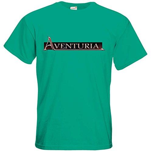 getshirts - Das Schwarze Auge - T-Shirt - Logos - Aventuria Pacific Green