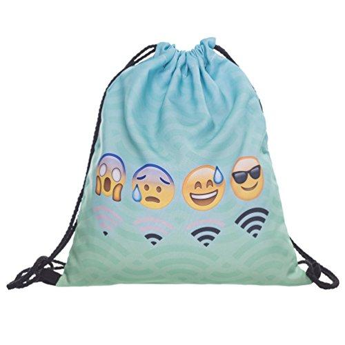 Imagen de fringoo   de cuerdas para niños, niñas y adolescente , color emoji wifi mint, tamaño h40 x l33 cm, volumen liters 4 alternativa
