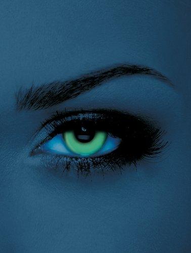 licht UV-Kontaktlinsen Grün ohne Stärke für Halloween und Karneval (Kontakte Halloween)