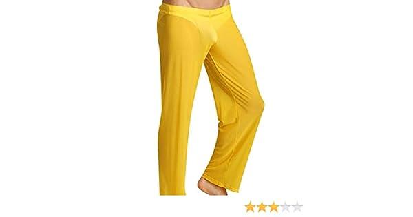 GUOCU Uomini Sono Slim Trasparente Sciolto e Confortevole Pantaloni da Yoga