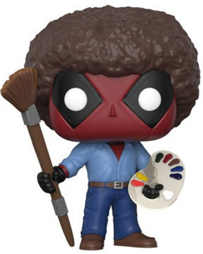 Funko 30865 Deadpool Playtime Bob Ross Actionfigur Marvel Playtime-70\'s mit Afro, Multicolour