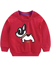 POLP Niño Invierno Unisex Camiseta de Manga Larga para niños Otoño Invierno Bebe Niña Pulóver Camisa de Fondo Jersey para niños Blusa Sudadera para Bebés Suéter Ropa Deportiva 2-6años