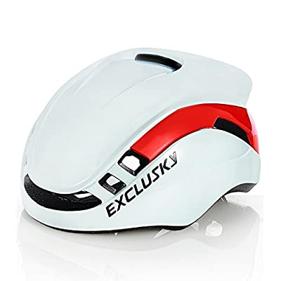 Exclusky Bike/Cycle Helmet for Men Lightweight Integrated Flow Vents with Reflective Stripe Adjustable 56-61cm Safety Protection from Exclusky
