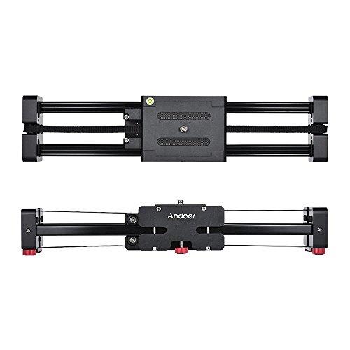Andoer Versenkbare Kamera Video Slider Dolly 40cm Track Schiene Stabilisator 80cm tatsächlich gleitende Entfernung Laden bis 8kg für Canon Nikon Sony DSLR-Kameras Camcorder