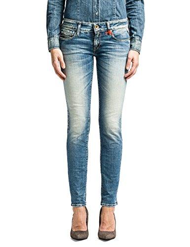 Replay Damen Skinny Hose Rose, Gr. W31/L34 (Herstellergröße: 31), Blau (Blue Denim 10)