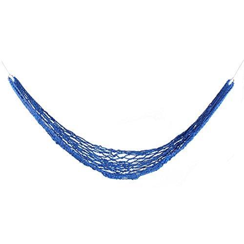 Dealmux Camping de voyage portable Twist Corde de corde en maille Hamac Bleu 200 x 150 cm