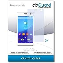 3 x disGuard Crystal Clear Lámina de protección para Sony Xperia C4 Dual / C-4 Dual - ¡Protección de pantalla cristalina con recubrimiento duro! CALIDAD PREMIUM - Made in Germany