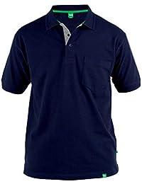 c07e4644baa97 Duke - Camiseta Polo de piqué Modelo D555 Grant en Talla Grande para Hombre