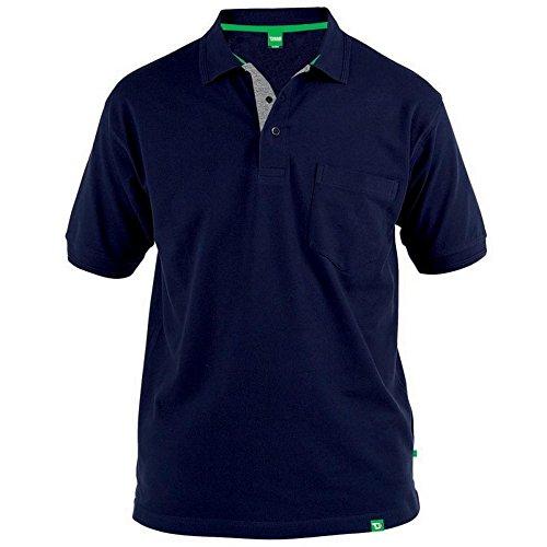 Duke D555 - Camiseta polo de piqué modelo 'Grant' en talla grande para hombre (8XL/Azul marino)