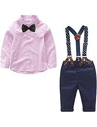 2a02b8c82 Yilaku Bebés Juego de Ropa Camisas y Pantalones Conjunto para Bebé Niño