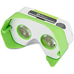 DSCVR Headset inspired by Google Cardboard v2 IO 2015 VR Gear for Apple iPhone and Android Smartphones - Google WWGC Certified Virtual Reality Viewer (Green)