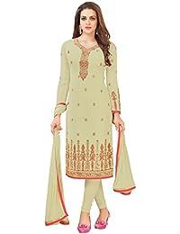 Vivaa Fashion Cream Georgette Designer Straight Cut Suit VF23707