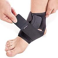 Knöchelbandage mit Kompression Wrap Unterstützung für Fuß Support Bandage Neoprene Schwarz Large preisvergleich bei billige-tabletten.eu