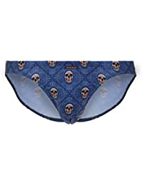 Bruno Banani Men's Shiny Skull Tanga Brief