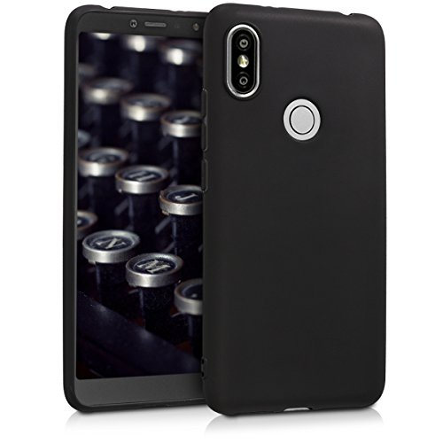 kwmobile Funda para Xiaomi Redmi S2 / Redmi Y2 - Carcasa para móvil en TPU Silicona - Protector Trasero en Negro Mate