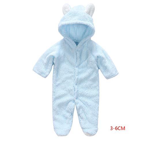 (Providethebest Korean Winter-Baby-Strampler Langarm mit Kapuze Overall-Säuglingskleinkind-Kleidung Overall Outfit)