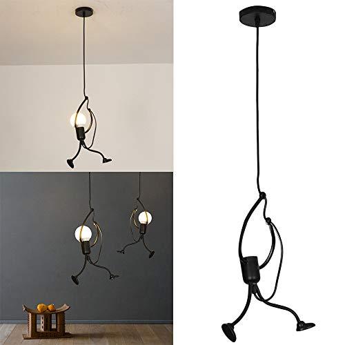 Beisoug Regalo Moderno Charmant lámpara Colgante Decorativo Gens de Hierro lámpara Elegante Percha
