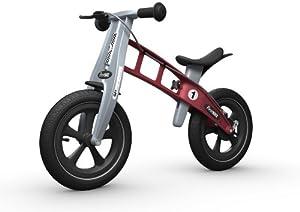 FIRSTBIKE - Bicicleta de Equilibrio con Freno, Modelo Racing, Color Rojo (L2008)