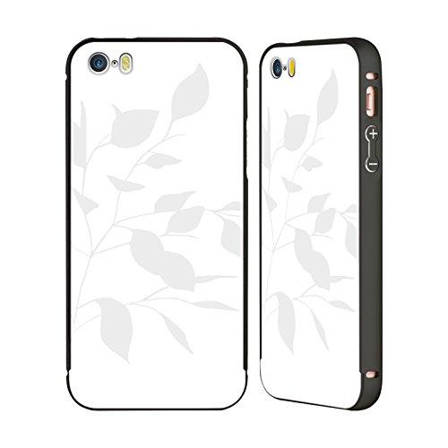 Offizielle Caitlin Workman Palmen Grün Organisch Schwarz Rahmen Hülle mit Bumper aus Aluminium für Apple iPhone 6 Plus / 6s Plus Frühling Blätter Grau Weiss