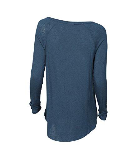 American Vintage Damen Shirt Alba in Blau-Petrol ouragan