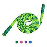 Springseil Weich Perlen - Verstellbare für Männer, Frauen und Kinder - Verwicklungsfrei für Fitness und Boxen (Grün)