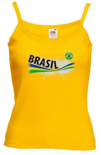 Fruit of the Loom Brasilien Damen T-Shirt Vintage Lady Fit Strap|S