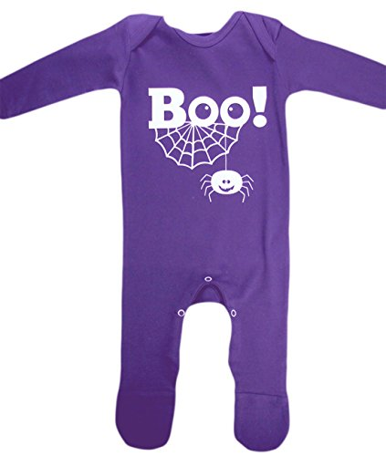 Affe Boo Baby Kostüm (Karnevalsbud - Baby BOO! Purple Romper Karneval Halloween Komplett Kostüm , Lila, Größe 80-, 1-)