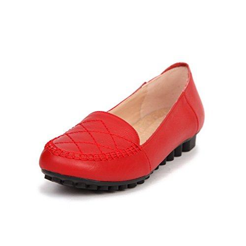BalaMasa da donna, senza tacco Imitated pompe-Scarpe in pelle Red