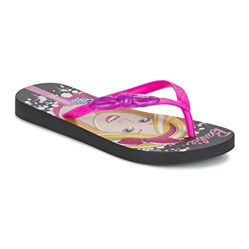 Ipanema Barbie Style Kids, Infradito da Bambina 81884 (27/28, Nero (Black/Pink( 23096 )))