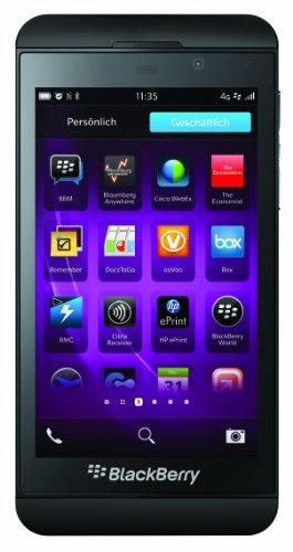 BlackBerry Z10 Smartphone, Display da 4.2 Pollici, Touchscreen, Fotocamera 8 Megapixel, Memoria Ampliabile 16 GB, 4G LTE, Nero [Germania]