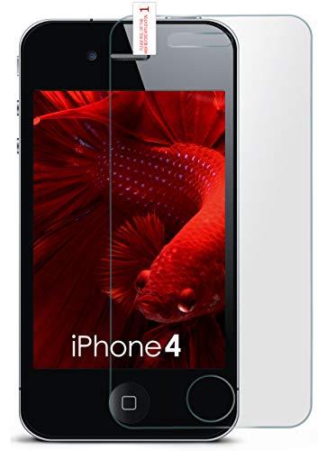 für iPhone 4S | Panzerglas Matt Glasfolie [Tempered Glass] Screen Protector Displayschutz-Folie für iPhone 4/4S Schutzfolie Glas ()
