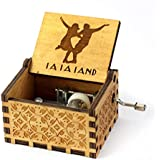 EITHEO Wooden Hand Cranked Collectable Engraved Music Box -La La Land