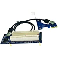 MagiDeal PCI-E Express X1 a Dual PCI Riser Extensor Adaptador Tarjeta con USB 3,0 Cable