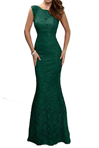 Prom Style Damen Attraktiv Spitze Abendkleider Ballkleider Cocktailkleider Mermaid Etui Lang Partykleider Tanzenkleider Grün