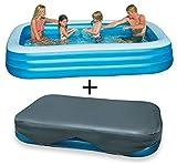 Intex Development Cp., Ltd. Swim Center Family Pool 305 x 183 x 56 cm + Abdeckplane 305 x 183 cm Set